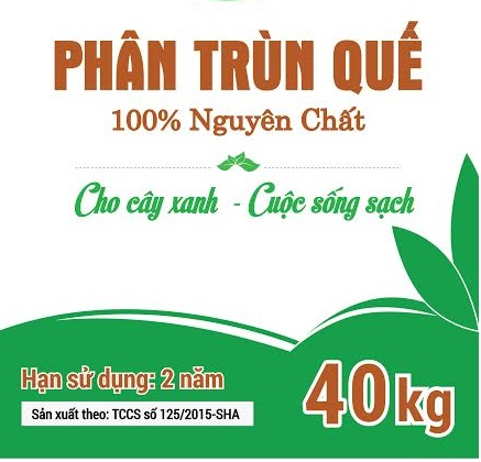 Phân trùn quế Sông Hồng (bao 40kg)